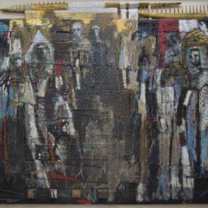 Wael Darwish - Mixed Media on Board