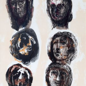 Henry moore - Lithograph In Colors On Arches Paper